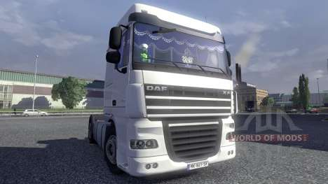 Interior del DAF XF para Euro Truck Simulator 2