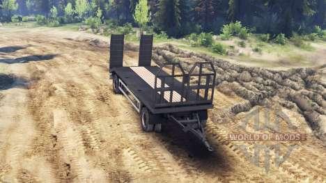Remolque de un camión de remolque HOMBRE 19414 para Spin Tires