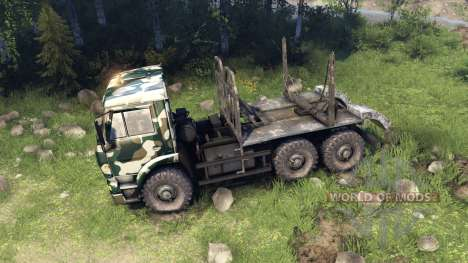 KamAZ-6520 camo v4 para Spin Tires