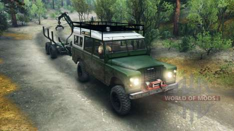Land Rover Defender Series III v2.2 Green para Spin Tires