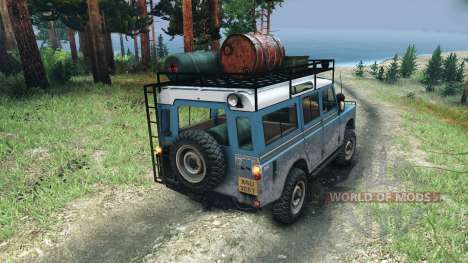 Land Rover Defender Series III v2.2 Blue para Spin Tires