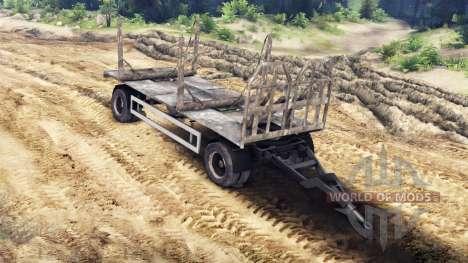 Trailer de madera de HOMBRE 19414 para Spin Tires