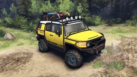 Toyota FJ Cruiser de color amarillo para Spin Tires