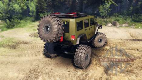 Jeep Wrangler Unlimited SID Green para Spin Tires