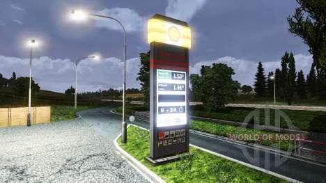 Estación de servicio Shell para Euro Truck Simulator 2