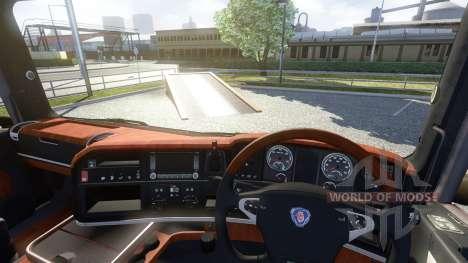 Interior para Scania-Madera- para Euro Truck Simulator 2