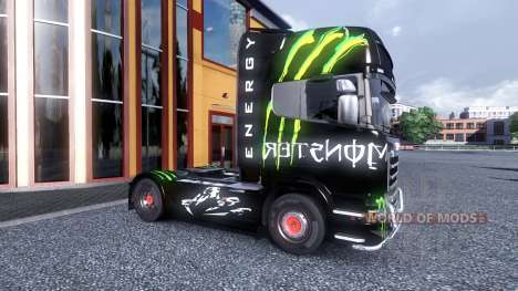 Color-Monster Energy - camión Scania para Euro Truck Simulator 2