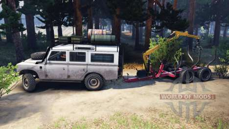 Land Rover Defender Series III v2.2 White para Spin Tires