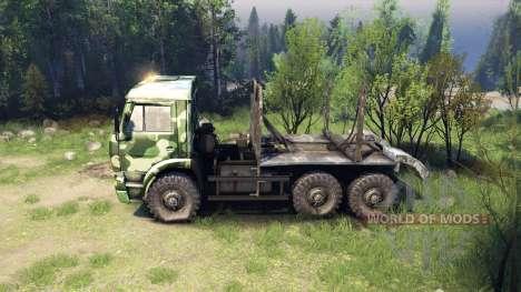 KamAZ-6520 camo v1 para Spin Tires
