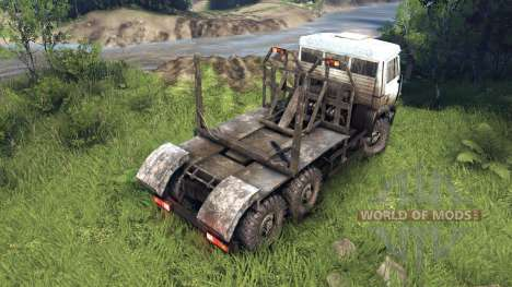 Blanco-sucio color en KAMAZ-6520 para Spin Tires