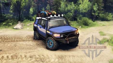 Toyota FJ Cruiser синий para Spin Tires