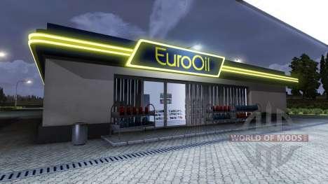 La estación de gas EuroOil para Euro Truck Simulator 2