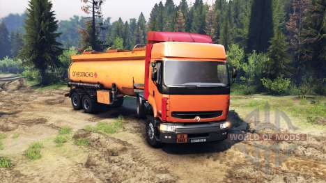 Renault Premium Orange para Spin Tires