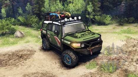 Toyota FJ Cruiser verde para Spin Tires