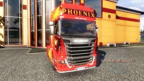 Color-Phoenix - en el tractor Scania para Euro Truck Simulator 2