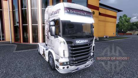 Color-Viking Line - por Scania truck para Euro Truck Simulator 2