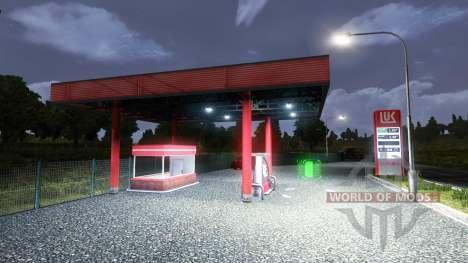 LA ESTACIÓN DE SERVICIO DE LUKOIL para Euro Truck Simulator 2