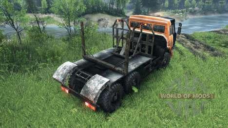 El negro y el naranja el color en KAMAZ-6520 para Spin Tires