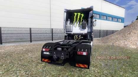 Color-Monstruo de Energía en una unidad tractora para Euro Truck Simulator 2