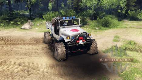 Toyota FJ40 Zero para Spin Tires