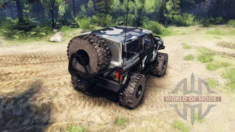 Jeep Cherokee XJ v1.3 Camo para Spin Tires