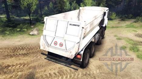 Mercedes-Benz Actros 4141 Tipper para Spin Tires