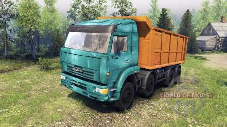 KamAZ-65201 para Spin Tires