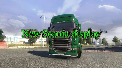 Nueva pantalla de Scania truck para Euro Truck Simulator 2