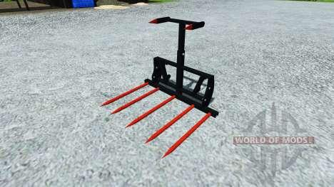 Horquillas para cargar las balas para Farming Simulator 2013