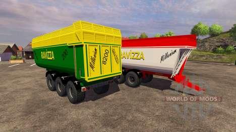 Remolques Ravizza Milenio 8200 para Farming Simulator 2013