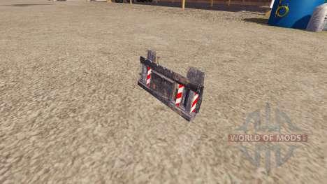 Montado en un camión de equipos para Farming Simulator 2013