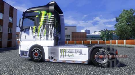 Color-Monster Energy - camión HOMBRE para Euro Truck Simulator 2