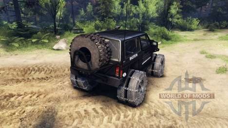 Jeep Cherokee XJ v1.3 Rough Country black para Spin Tires