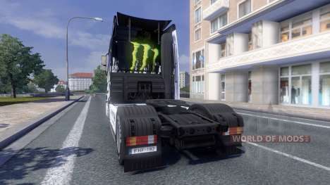 Color-Monster Energy - tractor Majestic para Euro Truck Simulator 2