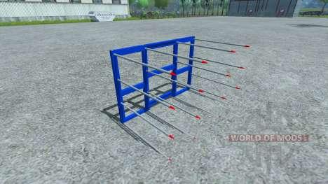 Horquillas para la carga de las balas para Farming Simulator 2013