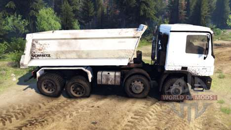 Mercedes-Benz Actros 4141 Tipper para Spin Tires