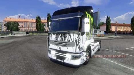 Color-Monstruo de Energía por unidad tractora Re para Euro Truck Simulator 2