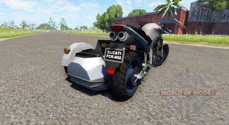 Ducati FRC-900 with a sidecar v4.0 para BeamNG Drive