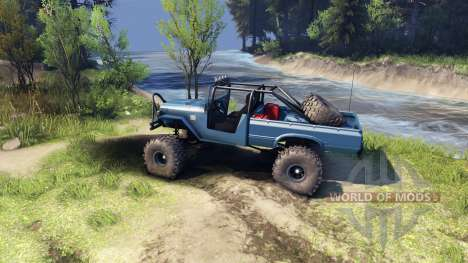 Toyota FJ40 Steel Blue para Spin Tires