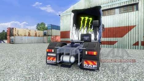 Color-Monster Energy - para camiones DAF para Euro Truck Simulator 2