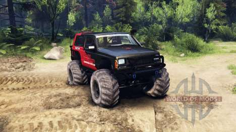 Jeep Cherokee XJ v1.3 Rough Country red clean para Spin Tires