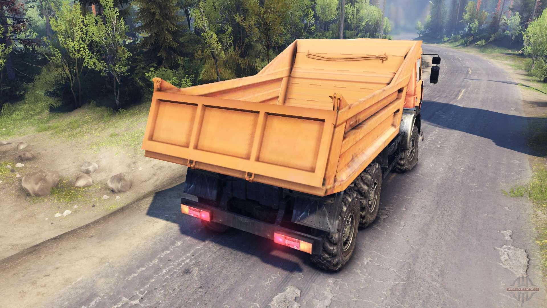 KamAZ-6520 volcado de camiones 6x6 para Spin Tires