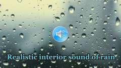 Realista sonido de la lluvia