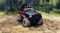 Jeep Cherokee XJ v1.3 Rough Country red dirty
