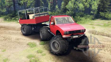 Toyota Hilux Truggy v1.0 wheels2 para Spin Tires