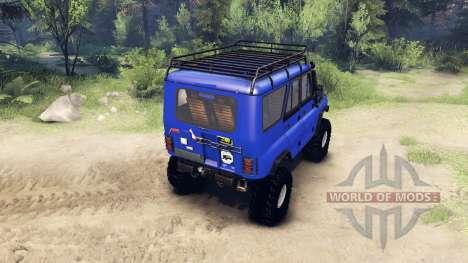 UAZ-469 Comandante para Spin Tires