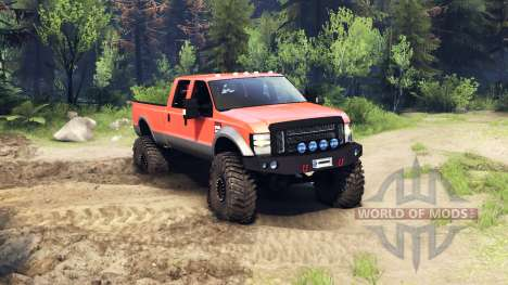 Ford F-350 Super Duty 6.8 2008 v0.1.0 orange para Spin Tires