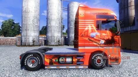 Color-Jagermeister - en camiones MAN TGX para Euro Truck Simulator 2