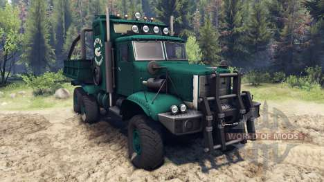 KrAZ-255 B1 Cocodrilo para Spin Tires