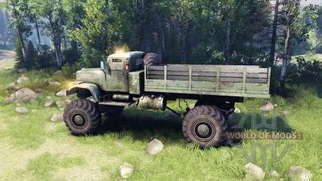 Kraz-255 4x4 para Spin Tires
